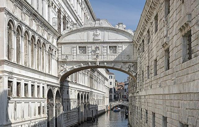 Il Ponte dei Sospiri, da Venezia a Cambridge
