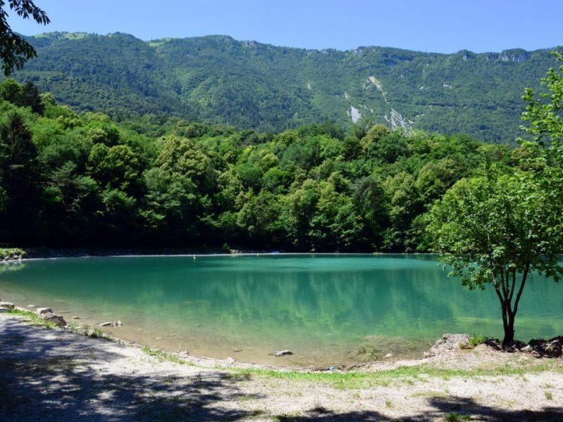 Il lago di Santa Croce a Belluno