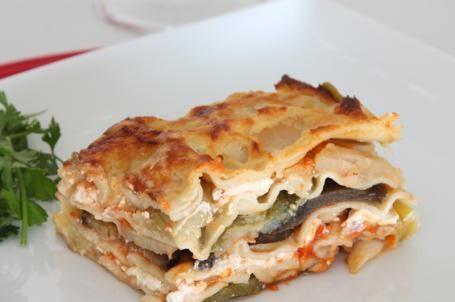 Lasagne con zucchine e melanzane